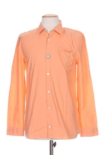 pepe jeans chemises garçon de couleur orange