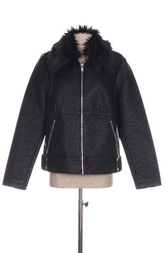 Veste simili cuir noir C'EST BEAU LA VIE pour femme