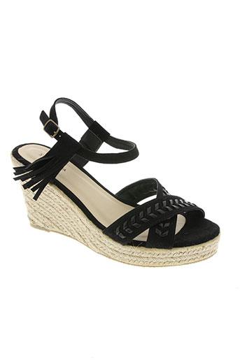 surkana chaussures femme de couleur noir