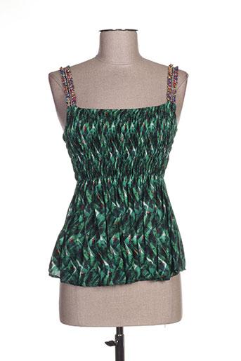 paz torras chemises femme de couleur vert