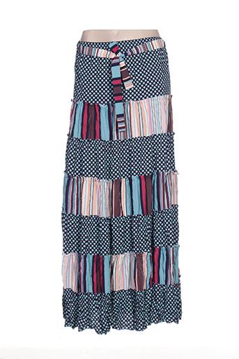 beaurivage jupes femme de couleur bleu