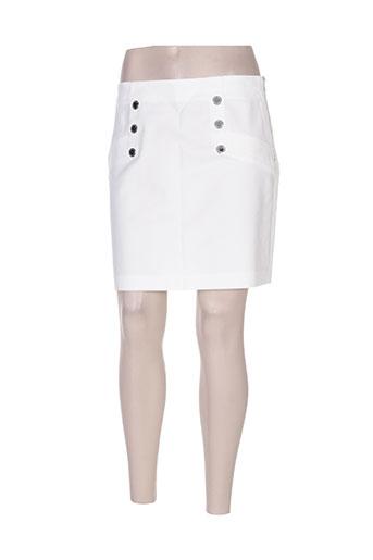 morgan jupes femme de couleur blanc