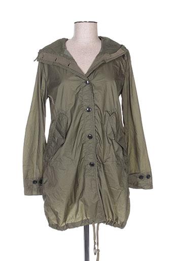 bellerose manteaux femme de couleur vert