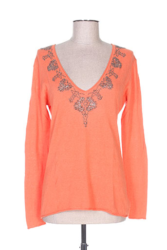 charlie joe pulls femme de couleur orange