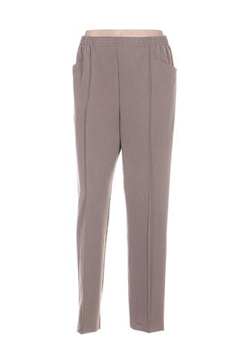 Pantalon casual gris GRIFFON pour femme