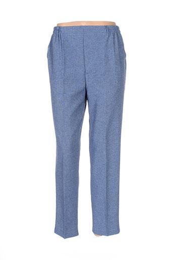 pierre d'arlanc pantalons femme de couleur bleu