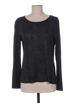 T-shirt manches longues noir GRIFFONNAGE pour femme