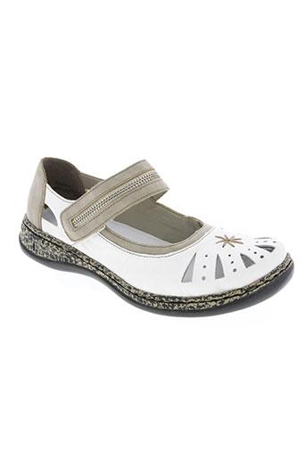rieker chaussures femme de couleur blanc