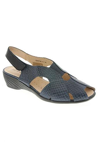 luxat chaussures femme de couleur bleu