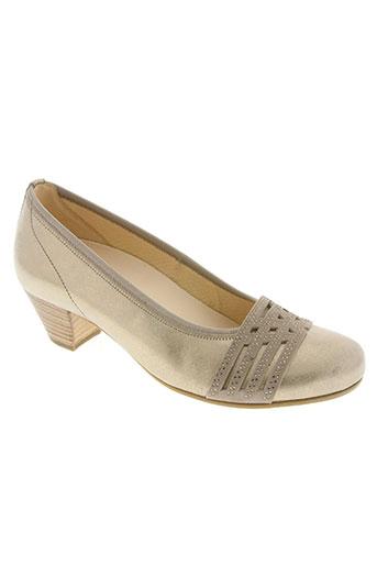 gabor chaussures femme de couleur jaune
