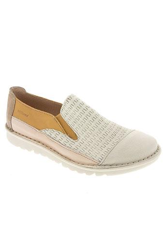 white red chaussures femme de couleur beige