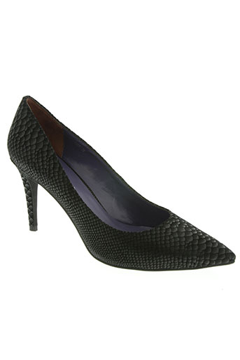 couleur pourpre chaussures femme de couleur noir