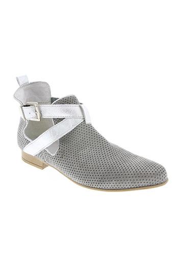 fee no men chaussures femme de couleur gris