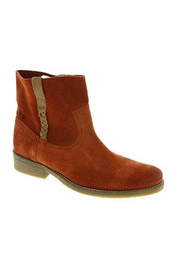 minka design chaussures femme de couleur orange