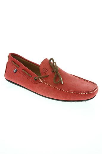 serge blanco chaussures homme de couleur rouge