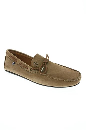 serge blanco chaussures homme de couleur marron