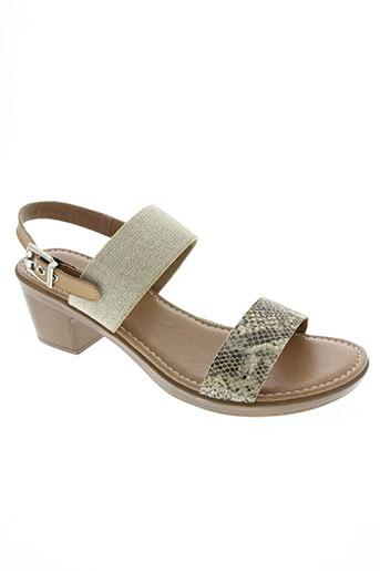 paula urban chaussures femme de couleur beige