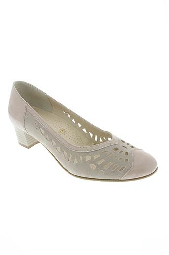ombelle chaussures femme de couleur beige