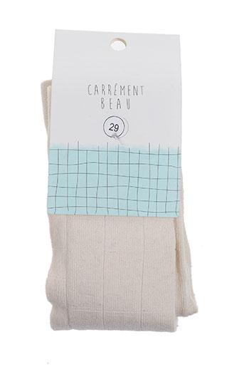 Collants blanc CARREMENT BEAU pour fille