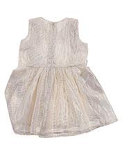 Robe mi-longue beige CARREMENT BEAU pour fille seconde vue