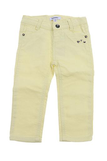 3 pommes pantalons fille de couleur jaune
