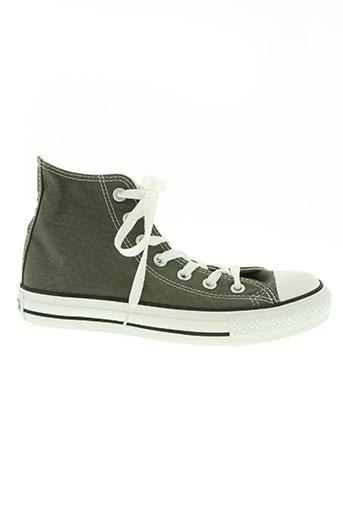 converse chaussures unisexe de couleur gris