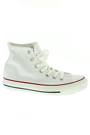 converse chaussures unisexe de couleur blanc