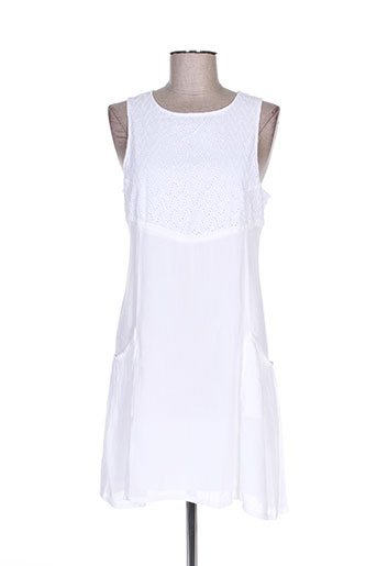 teddy smith robes femme de couleur blanc
