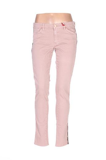 Pantalon casual rose I.CODE (By IKKS) pour femme