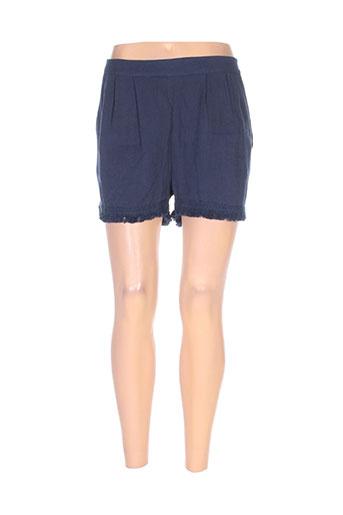 teddy smith shorts / bermudas femme de couleur bleu