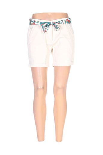 lola espeleta shorts / bermudas femme de couleur beige