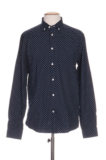 tailored EFFI_CHAR_1 originals chemises homme de couleur bleu