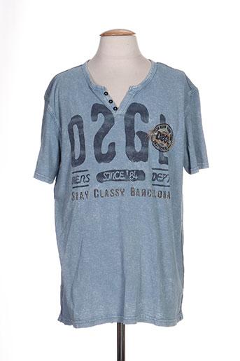 desigual t-shirts homme de couleur bleu