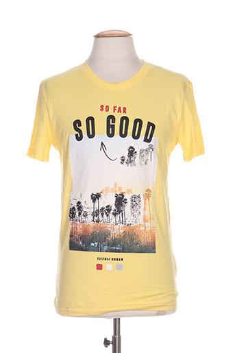 tiffosi t-shirts homme de couleur jaune