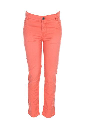 3 pommes pantalons fille de couleur orange