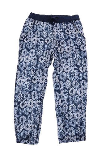 3 pommes pantalons fille de couleur bleu