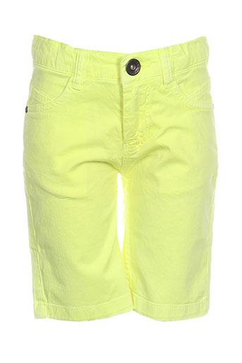 3 pommes shorts / bermudas garçon de couleur jaune