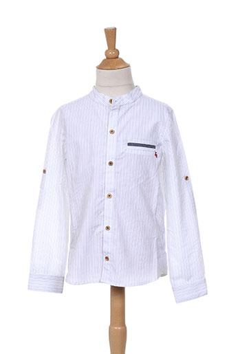 jean bourget chemises garçon de couleur blanc