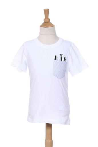 jean bourget t-shirts enfant de couleur blanc