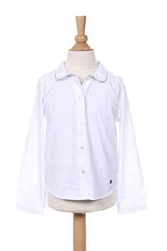 3 pommes chemises fille de couleur blanc