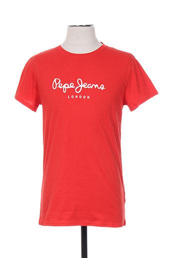 pepe jeans t-shirts garçon de couleur rouge