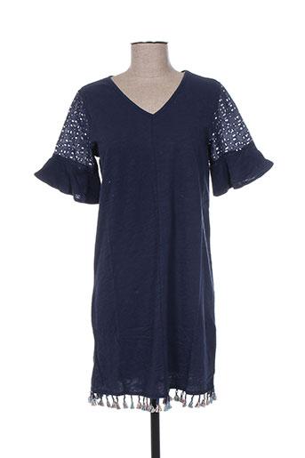 teddy smith robes fille de couleur bleu