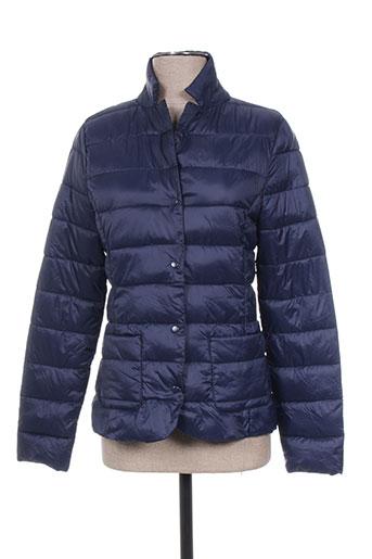 teddy smith manteaux fille de couleur bleu