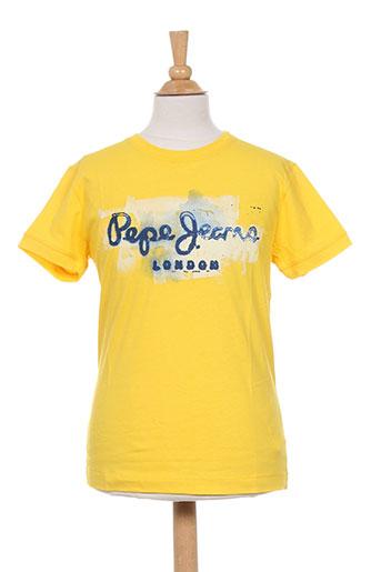 pepe jeans t-shirts garçon de couleur jaune