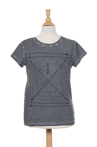 beckaro t-shirts fille de couleur gris