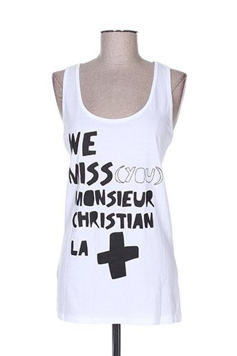 monsieur steve t-shirts femme de couleur blanc