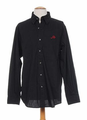 Chemise manches longues noir CORDOVAN pour homme