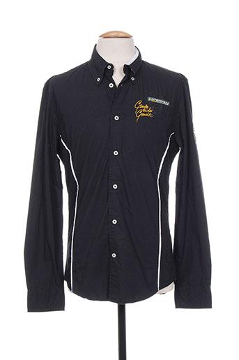 mc gregor chemises homme de couleur noir