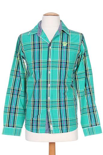 mexx chemises garçon de couleur vert