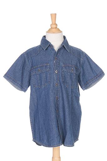 losan chemises garçon de couleur bleu